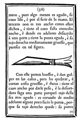 Un dels cinc tipus de ganivet proposats.