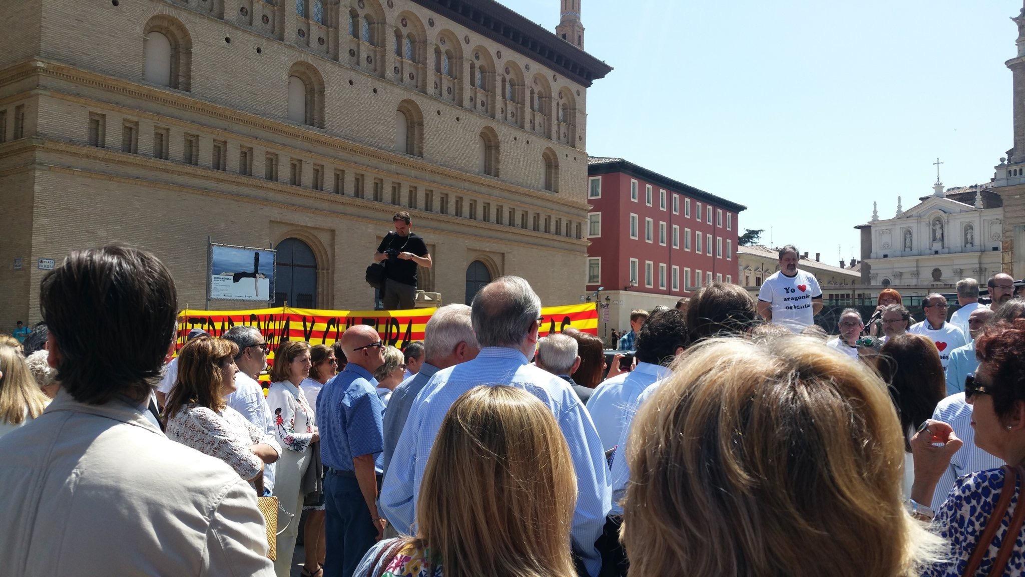 Manifestació contra el català Saragossa