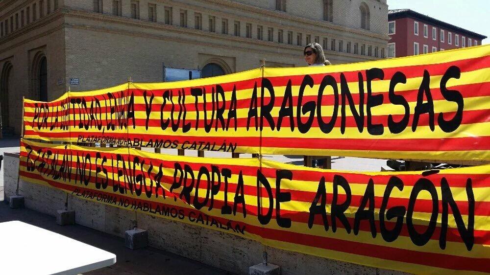 Mani contra el català Aragó
