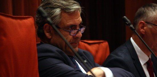 El director de l'Oficina Antifrau de Catalunya, Daniel de Alfonso, al parlament (fotografia: ACN).