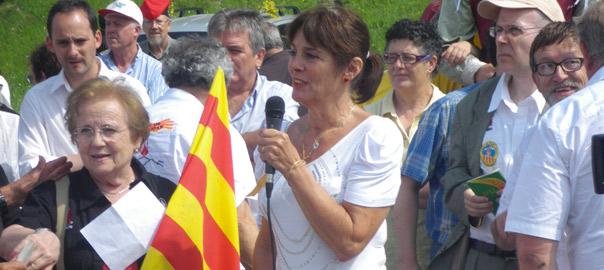 Daniela Grau, el 2012, a Coll d'Ares