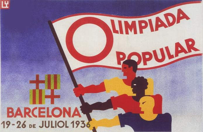 Cartell de l'Olimpíada Popular de Barcelona.