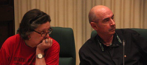 Lluís Llach i Gabriela Serra, a la comissió del procés constituent, el 18 de juliol de 2016.