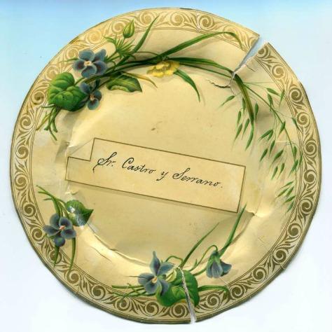 Menú en forma de plat (1879).