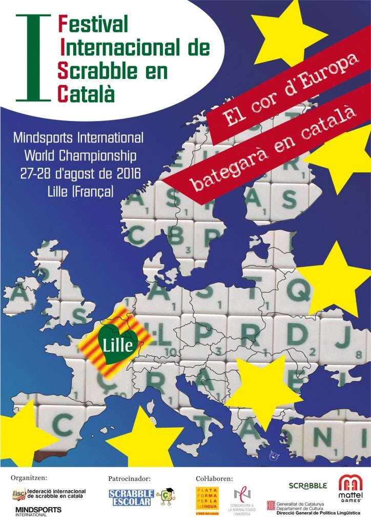 El cartell del primer Festival Internacional de Scrabble en Català