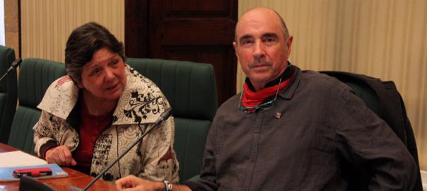 El president i la vice-presidenta de la comissió d'estudi del procés constituent, Lluís Llach i Gabriela Serra.