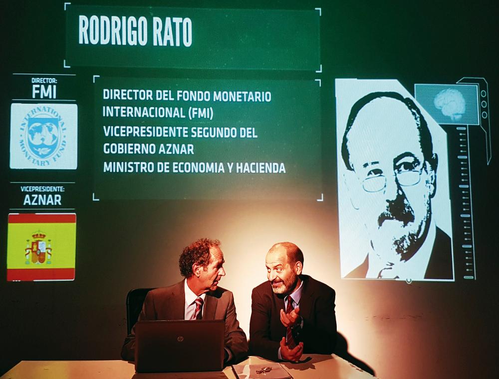 Albert Pérez i Josep Julien, en una escena de l'obra