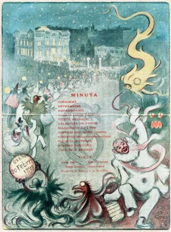 Minuta de Carnaval (Barcelona, 1898).