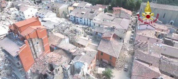 Terremoto-Amatrice-Rieti-Distrutta-24-Agosto-2016-Video-con-Drone