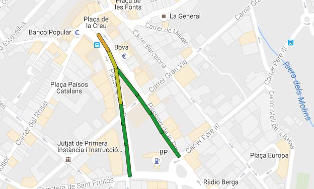 Mapa Trams Diada 2018.Diada 2016 L Ocupacio Dels Trams De Les Cinc Manifestacions