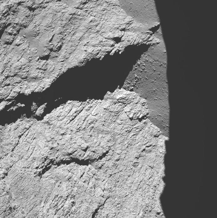 Rosetta, a 161Km del cometa.