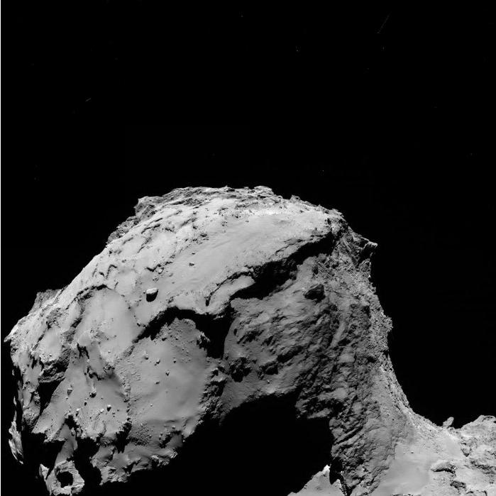 Rosetta, a 15 Km del cometa.
