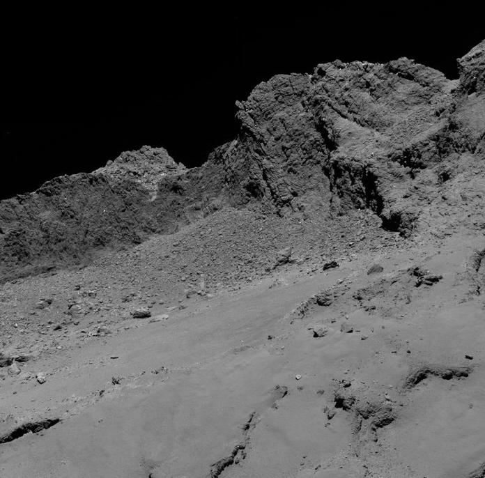 Rosetta, a 16 Km del cometa.