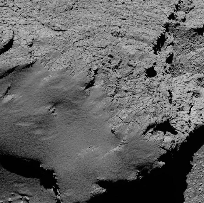 Rosetta, a 8 Km del cometa.