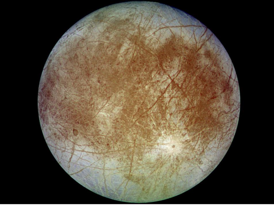 Europa, una de les principals llunes de Júpiter. Fotografia: Wikipedia.