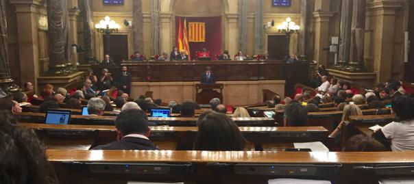 Puigdemont intervé al parlament