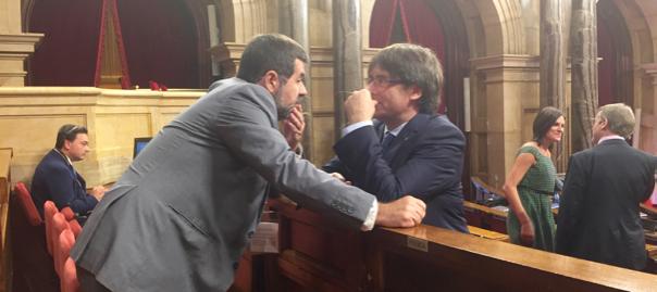 Jordi Sànchez i Carles Puigdemont.