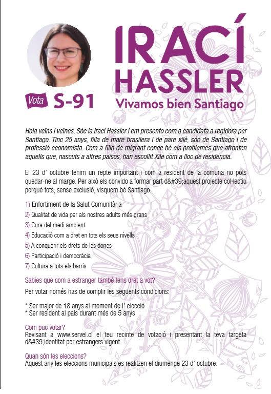 pamflet Hassler Santiago de Xile