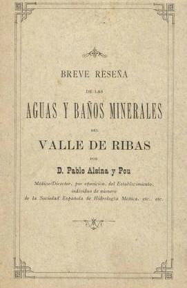 Monografia de Pablo Alsina sobre l'aigua de la vall de Ribes.