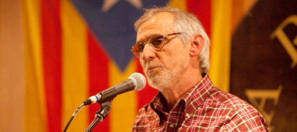 Biel Majoral en un acte de l'ANC a Sabadell (fotografia de Lluís Brunet).