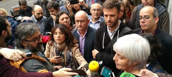 La batllessa i els regidors de Badalona citats a declarar (fotografia de @davidminoves)