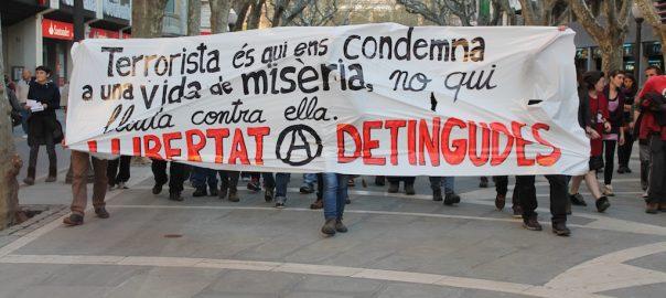 Manifestació contra l'Operació Pinyata