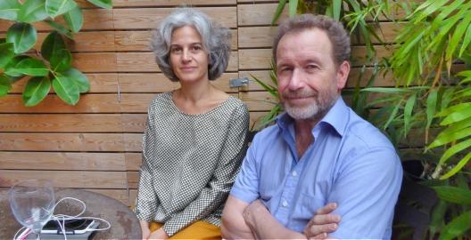 L'editora Maria Bohigas, de Club Editor, i l'escriptor Pet Petterson.