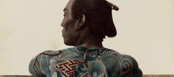 Per a algunes persones el tatuatge és tan sols un adorn. Per a d'altres és una manera d'expressar en imatges el que no volen expressar amb paraules. Aquest simbolisme del tatuatge ha estat explotat en moltes cultures i èpoques. A dalt, fragment d'una il·lustració japonesa de finals del segle XIX.
