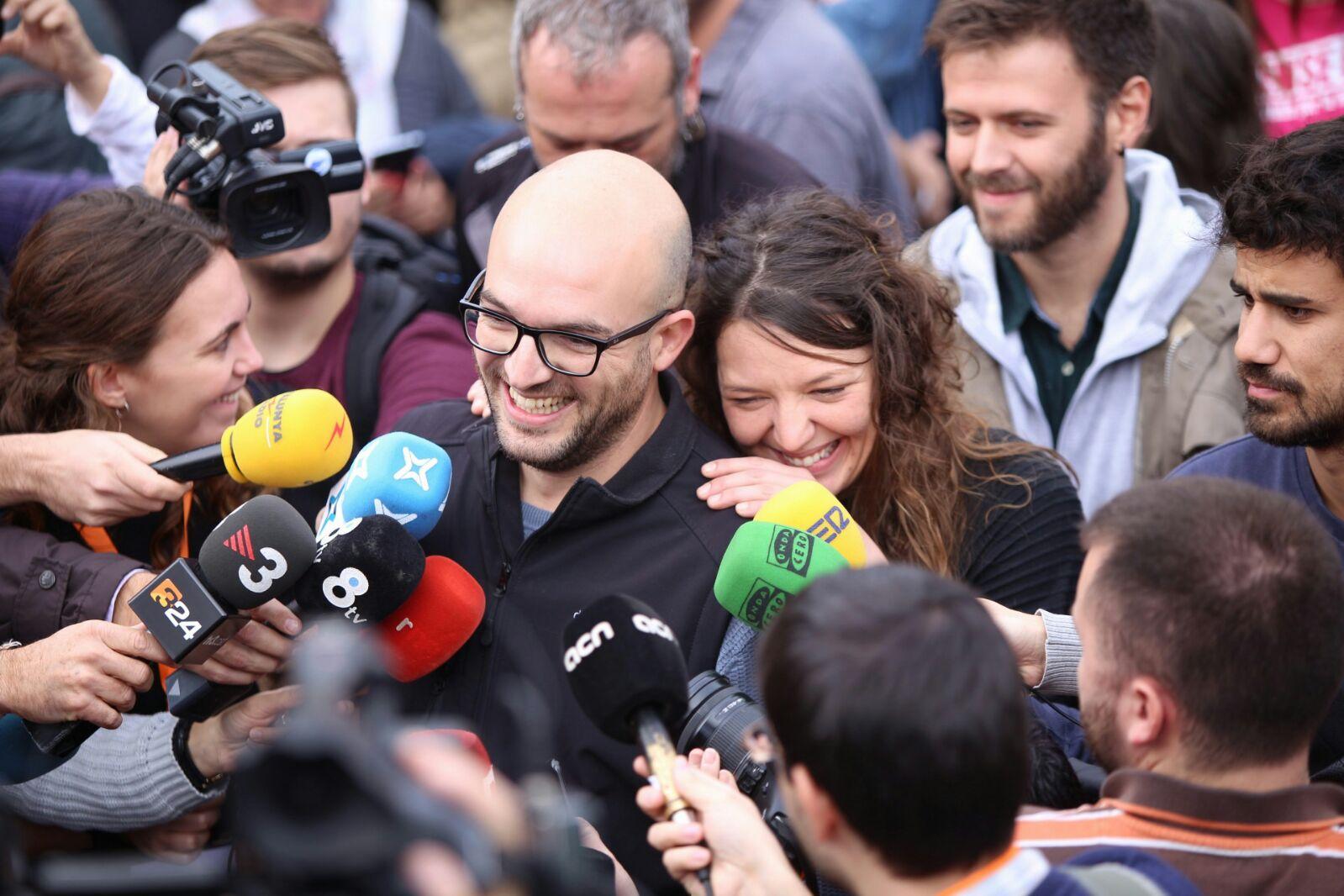El regidor Joan Coma i la batllessa Montserrat Venturós (Foto: Albert Salamé)