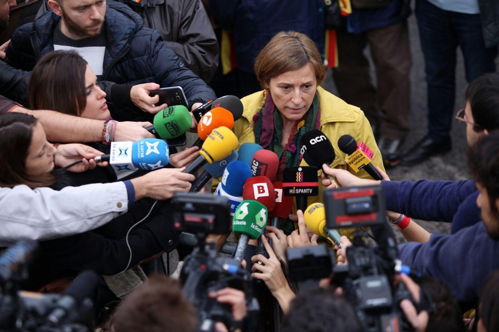 La presidenta del parlament (Foto. Albert Salamé)
