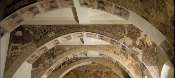 Les pintures murals de Sixena al Museu Nacional d'Art de Catalunya.