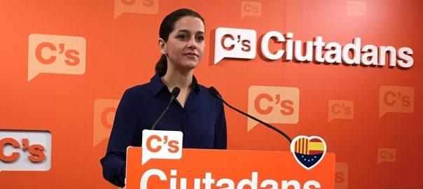 Inés Arrimadas, a la seu de Ciutadans (fotografia: Europa Press).