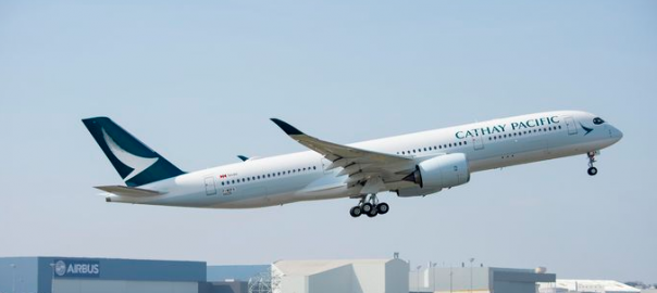 L'Airbus A350 de Cathay Pacific.