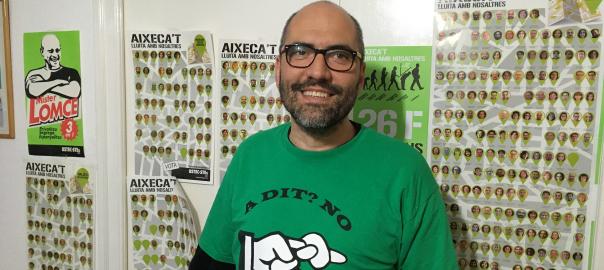 Ramon Font, portaveu nacional d'USTEC-STEs IAC