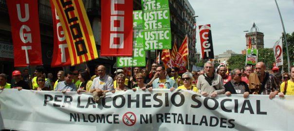 Imatge de la capçalera de l'última gran vaga d'ensenyament, el 9 de maig del 2013.