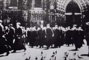La manifestació dels capellans el 1966