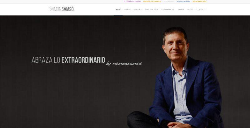 Ejemplo web de marca personal Raimon Samsó