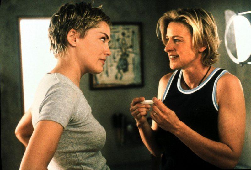 Mujer contra mujer Sharon Stone y Ellen DeGeneres