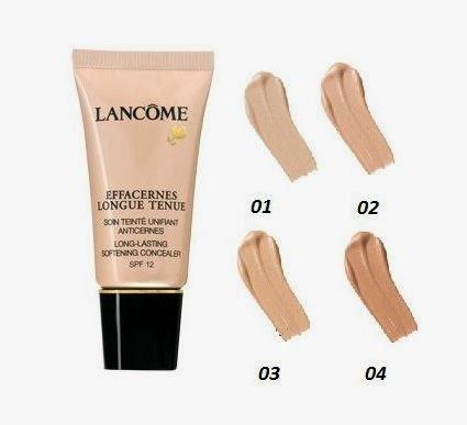 Lancôme Effacernes Longue Tenue Concealer SPF30 tonos