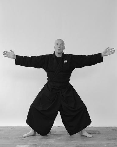 Hira ichimonji no kamae, horizontal stance - Ninjutsu