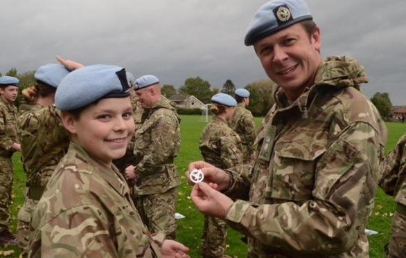 Cdt Smith Receiving Cap Badge