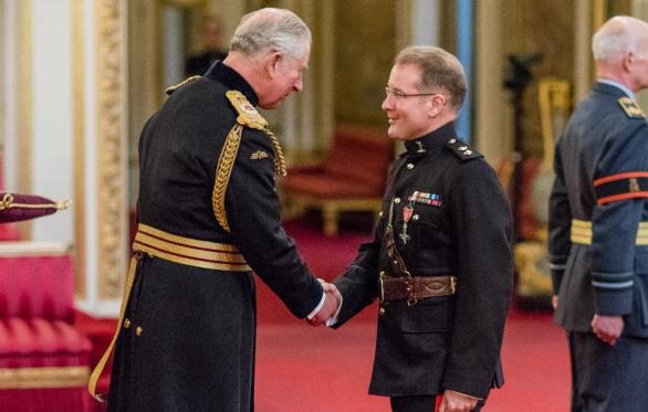 Col Anthony Lamb Awarded Mbe