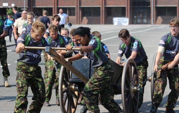 The Royal Hospital School Competing In Royal Navy Field Gun Competition