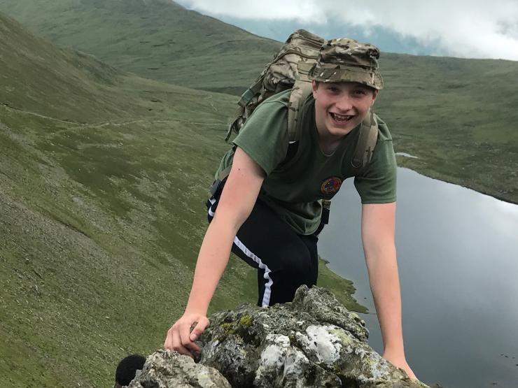 Brooke Weston Academy Taken By Cadet Lcpl Ethan Mathieson Showing Cadet Sgt Ethan Mathieson Adventure Training Summer Camp Helvellyn Army Section