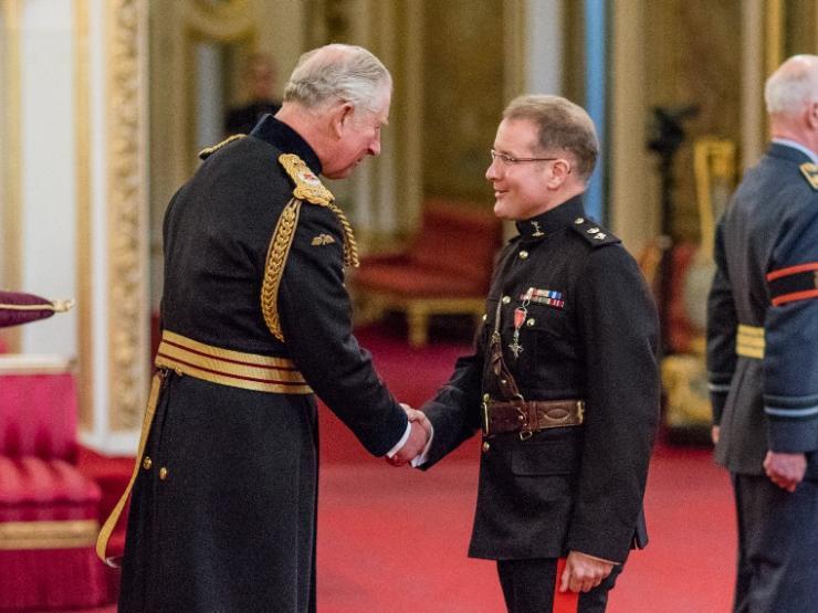 Col Anthony Lamb Awarded Mbe