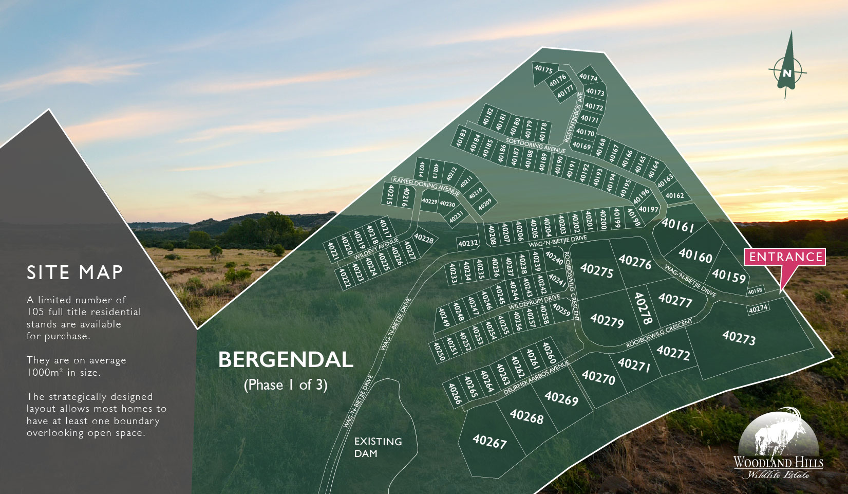 Bergendal Site Map