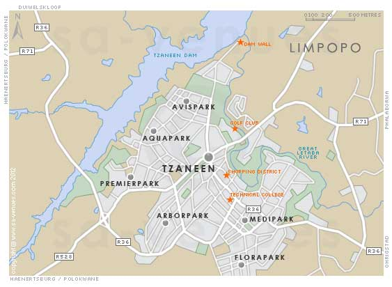 Tzaneen map