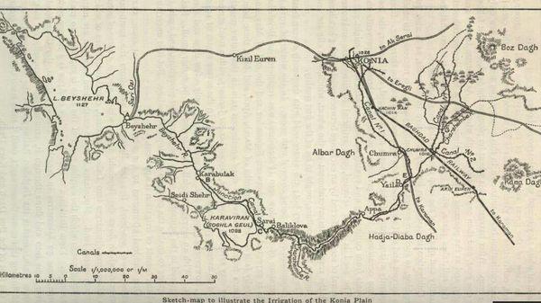 Harita ve kroki konya ovas%c4%b1n%c4%b1n sulama plan%c4%b1n%c4%b1 g%c3%b6stermektedir