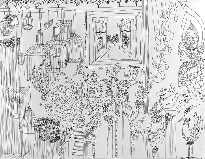 Drawing Birds and Cages I