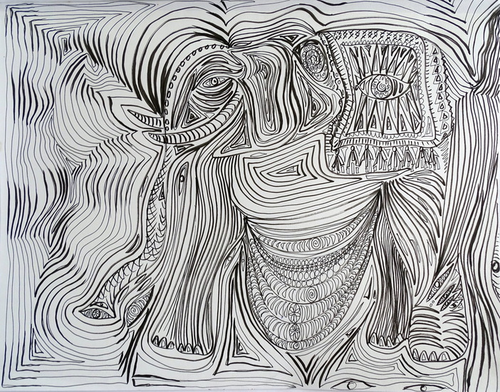 Drawing Elephant I